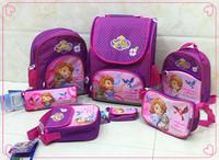Free shipping Sofia backpack sophia schoolbags Frozen backpack children school bags