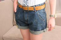 Shorts Femininos 2014 Summer New Fashion Female Trousers Brand Slim High Waist Jeans Shorts Casual Girl Hot Pants Size S M L XL