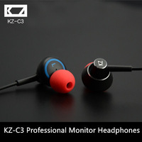 KZ-C3 in-ear headphones professional  in ear monitor earphones 14MM dynamic fever unit headphone audiophile KZ
