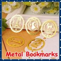 [FORREST SHOP] Kawaii School Stationery Gold Metal Bookmark Clip / Vintage Stainless Steel Bookmarks For Books F873
