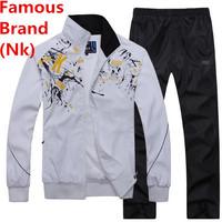Nk Brand Men Autumn Winter Male Fashion Outerdoor Tracksuit Hoodies Set Sportswear Jogging Jacket Sports Suit Leisure Sweatshirt
