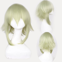 Vocaloid Gumi Green Short Shaggy Layered Cosplay Anime Wig