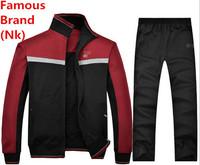 Nk Brand Men Women Autumn Winter Cotton Coat Parkas Tracksuit Hoodie Set Sportswear Jacket Sports Suit Breathable Sweatshirt