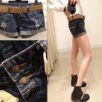 Summer Fashion New 2014 Shorts Women Slim Casual Good Elastic Short Pant High Waist Jeans Shorts Hot pants Free Drop Shipping