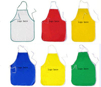 1000 pcs free shipping Apron PVC apron advertisement apron Non-woven fabrics apron  promotonal gifts (customed LOGO,free design)