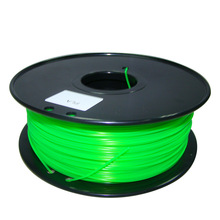 green color 3d printer filaments PLA/ABS 1.75mm/3mm 1kg plastic Rubber Consumables Material MakerBot/RepRap/UP/Mendel