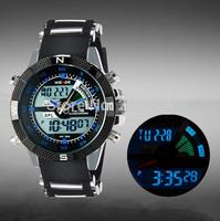 Nes WEIDE Luxury Brand Men Sports Watch 3ATM Waterproof Multifunction Quartz Digital LED Backlight Military Watches