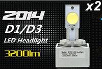 2pcs/lot 2014 new CREE KIT D1/D3 LED HEADLIGHT BULBS 6400 Lm REPLACE CAR HEAD LIGHT 6500K Xenon white 12V 24V 1year warranty