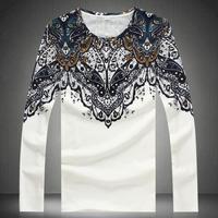 Fashion Casual men's large size brand tshirt males plus extra large size long-sleeve t-shirt size m l xl xxl 3xl 4xl 5xl