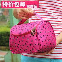2014 love pattern wash bag cosmetic bag large capacity cosmetic bag