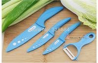 "Free shipping top quality 3"" inch 4"" inch 6"" inch+ceramic peeler 4 pcs ceramic knife set kitchen knives ceramic chef knife"