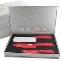 "Free shipping 3 pcs ceramic knife set 4"" paring knife+6"" chef knife+6.5"" sushi knife top quality kitchen knives"