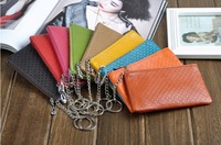 2014 new fashion GENUINE LEATHER mobile phone bag multi candy color function coin bags key bag small bag free shipping