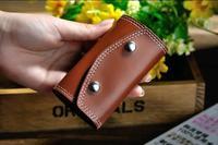 2014 NEW arrival Portable fashion vintage genuine Leather car Key Bag KeyChain Keys Wallet Holder Purse solid key chain bag