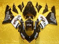Customized Motorcycle Fairing kit for KAWASAKI Ninja ZX10R 2004 2005 ZX10R 04 05 WEST white black ABS Fairings set+7 gifts SF95