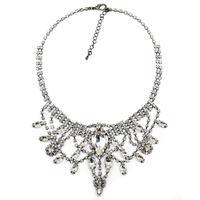 NEW trendy high quality Fashion women collar bib crystal tassel necklace & pendant choker chunky design necklace for women 2014