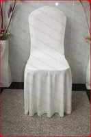 Ivory Color Elegant Pleated Swag Spandex Chair Cover/Lycra Chair Cover/Backdrop For Wedding Party Hotel Banquet Home Decorations