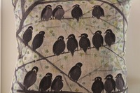 Vintage Cotton Linen Cushion Cover Pillow Case Black Branch Birds  Home Decor 45cm*45cm 1pc