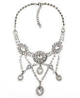 NEW trendy Fashion women collar bib crystal tassel chain necklace & pendant high quality choker chunky design necklace wholesale