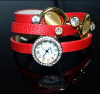 Free shipping cheap ladies watches cute retro dress crystal bracelet diamond bracelet watch