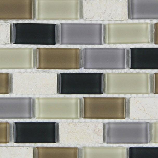 Metrotegels Keuken Kopen : Beige Glass Subway Tile Backsplash