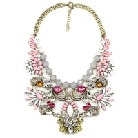 2014 New disign JC high quality crystal pendant necklace Unique costume chain pendant choker collar bubble statement Necklace