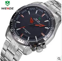 WEIDE brand,High-end,Waterproof, steel men's watch ,watches men luxury brand