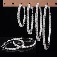 Hot fashion paparazzi basketball wives crystal rhinestone hoop earrings Women jewelry