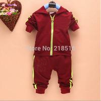 hot sale 2014 New cotton Toddlers children baby boys girls autumn spring 2 pcs clothing set suit Pattern baby shirt + pants sets