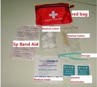 5bag/Lots Car medical kits Emergency first aid kits Home Car Dual  Emergency kits Gift Medicine Kits Free shipping