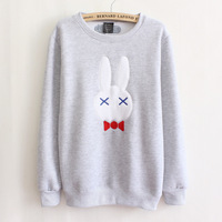 2014 fall and winter clothes new harajuku long-sleeved sweatshirt sweaters little rabbit thick cotton fleece women fashion