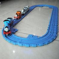 (12 pieces/set) Thomas Train Toys The Train Track PVC Railway DIY Toy Play With Thomas Diecast Train For Kids/Children/Gift