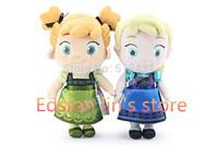 2PCS/SET 30CM Frozen doll,Wholesale price,Frozen childhood Plush Elsa Anna baby plush Soft Toy,Brinquedos Kids Dolls for Girls