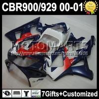 7gifts For HONDA 00 01 Dark blue red CBR 929 929RR CBR929RR 900RR HOT K6544 CBR900RR 2000 Blue white 2001 CBR929 RR ABS Fairing