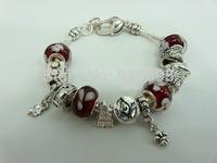 PH096 Alibaba Hot Sell Fish Charm Chamilia Bracelet Bangle 925 Silver Murano Glass For Women Fashion European Style Jewelry