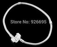 PH100-1 big sale Fashion Women European 925 sterling Silver Bracelet & Bangle Snake Chain fit for Pandora or Chamilia Bead Charm