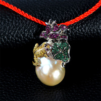 Very Thai jewelry pendant necklace female frog shaped pearl pendant genuine new fashion wild 2014