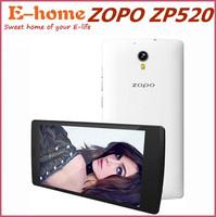 Original ZOPO ZP520 4G LTE Mobile Phone MTK6582M Quad Core 1.3GHz 5.5 inch 960X540 IPS Screen 1GB RAM 8GB ROM 8MP 2400MAH GPS