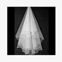 One Layer Pearl Veil Creamy White A Bridal Veil Wedding Accessories Veil