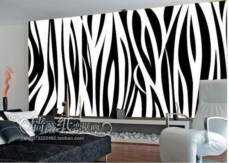 Online buy grosir wallpaper 3d black from china wallpaper for Mural hitam putih