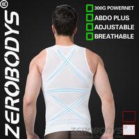 10pcs ZEROBODYS Powerful Mens Body Shaper 300g High Powernet Vest 358 WH Slimming Control Body Shaper Vest Belt Male XXL