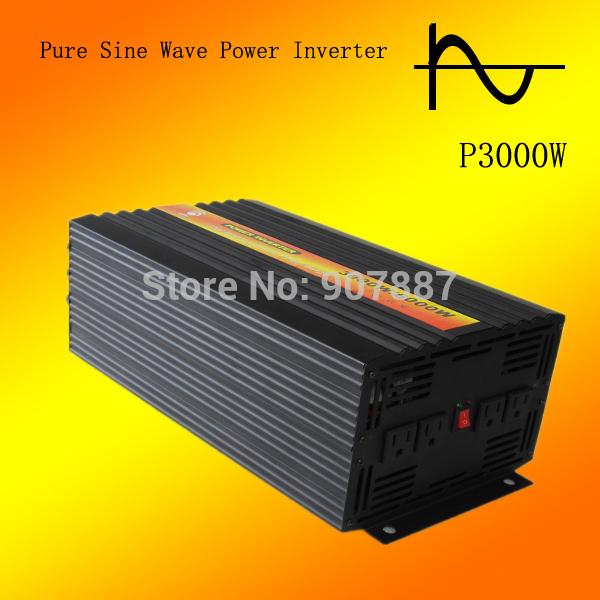 DC12V 24V to AC 100V~120V/220V~240V Off Grid Pure Sine Wave Solar Power Inverter 3000W(China (Mainland))