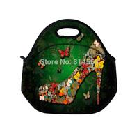 Butterflies Shoe Insulated Neoprene Lunch Tote Bag Gourmet with Zip & Handbag\Lunch Tote Cooler Bag Handbag