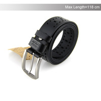 Men leather brand belt of cowskin good quality pin buckle black business trouser brand belts for men hot 2014 YD20140529022