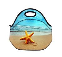 Starfish Soft Cooler Lunch Bag Box Neoprene lunchbox for women Girls Kids  free Shipping