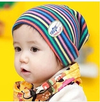 2014 new hot selling! children hat Rainbow stripe knitting cap Baby Caps Infant hats caps Kids Beanie free shipping