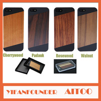 Retailers general merchandise 1pc high quality PC wood cover for iphone 5 5s