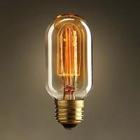 Special lighting Filament Straight Firework Art light bulb vintage Edisons lamp E27 Halogen Bulbs,110V 240V Free Shipping,T45-12