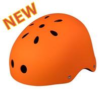 High Quality Matt Orange Helmet Fixed Gear Bicycle Helmet Solid Color 11 Holes Skate Helmets X-sports Head Protection