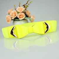 New arrive women elastic belt bowknot belt Korean belts for women  Fashion apparel accessories Free shipping